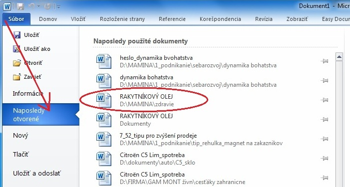 navod_naposledy otvoreny dokument